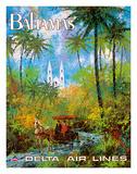 Bahamas - Delta Air Lines Gicléetryck av Jack Laycox