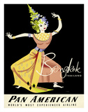 Bangkok, Thailand - Pan American Airlines (PAA) - Thai Woman Classical Dancer Giclee Print by A. Amspoker
