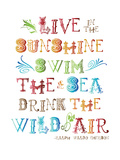 Live In The Sunshine Multi Prints by Amy Brinkman