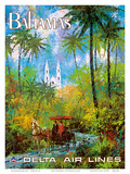 Bahamas - Delta Air Lines Posters by Jack Laycox