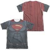 Batman vs. Superman- Superman Uniform Costume (Front/Back) T-shirts