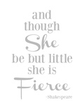 She Is Fierce V2 Gray Prints by Amy Brinkman