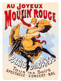 Au Joyeux Moulin Rouge (Happy at the Moulin Rouge) Poster by  Pacifica Island Art