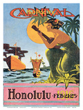 1916 Mid-Pacific Carnival - Honolulu, Hawai'i Poster by  Catton