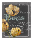 Chalkboard Paris II Print by  Studio W