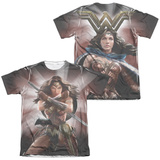 Batman vs. Superman- Backlit Wonder Woman (Front/Back) T-Shirt