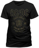 AC/DC- Black Done Cheap T-Shirt