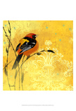 Oriole & Cartouche II Prints by Evelia Designs