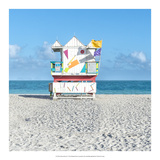 Miami Beach V Print by Richard Silver