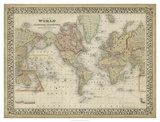 Mitchell's World Map Giclee Print by  Mitchell