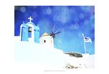 Santorini I Plakater af Sylvia Coomes