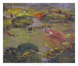 Koi & Lilies I Giclee Print by Chuck Larivey
