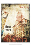 New York Grunge I Poster by Irena Orlov