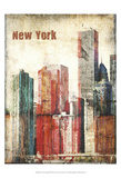 New York Grunge III Print by Irena Orlov