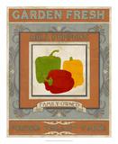 Vintage Produce Sign II Art by June Vess