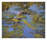 Koi & Lilies II Giclee Print by Chuck Larivey