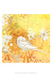 Budgie & Cartouche II Posters by Evelia Designs