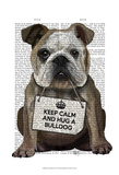 Hug a Bulldog Prints by Fab Funky