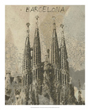 Remembering Barcelona Giclee Print by Irena Orlov