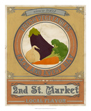 Vintage Produce Sign III Posters by June Vess