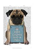 Hug a Pug Art by Fab Funky
