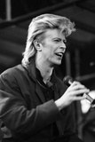 David Bowie Performs at Wembley Stadium, 1987 Photographic Print