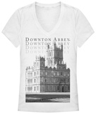 Juniors: Downton Abbey- Castle Estate V-Neck T-Shirt