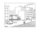 The Burger Hut Franchise Decides to Add Sesame Seeds -- Men hammer seeds o... - New Yorker Cartoon Premium Giclee Print by Jack Ziegler