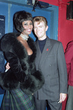 """David Bowie and Iman at the Prince of Wales """"Concert of Hope"""" for World AIDS Day, London, 1993 Photographic Print by Gill Allen"""