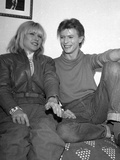 "Deborah Harry and David Bowie at Booth Theater where Bowie is in ""The Elephant Man"", NYC, 1980 Photographic Print by NANCY KAYE"