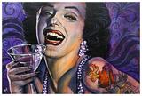 Marilyn Noir Posters par Mike Bell