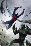 Spider-Man 2099 No. 4 Cover, Featuring: Spider-Man 2099, Scorpion Cartel de plástico por Francesco Mattina