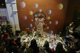 David Bowie Fans Gather around Mural after the Artist's Death on Jan 10th, 2016, South London Photographic Print by Tim Ireland