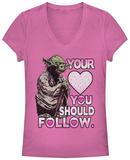 Juniors: Star Wars- Yoda Valentines Advice T-Shirts