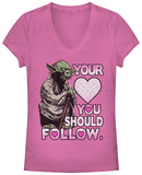 Juniors: Star Wars- Yoda Valentines Advice T-Shirt