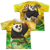 Youth: Kung Fu Panda- Po And Friends (Front/Back) T-Shirt