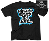 Afrika Bambaataa- Hip Hop Saved My Life (Front/Back) T-shirts