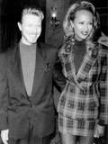 """David Bowie and Iman at Premiere of """"Niel"""" in New York, 1994 Photographic Print by David Alloca"""