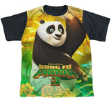 Youth: Kung Fu Panda- Cuddly Warrior (Black Back) T-Shirt