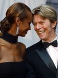 Imand and David Bowie at CFDA Fashion Awards, New York, 2002 Photographic Print by Suzanne Plunkett