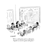 """We're a cable giant, you're a cable giant. Together we can be a giant cab..."" - New Yorker Cartoon Premium Giclee Print by David Sipress"