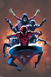 Olivier Coipel - The Amazing Spider-Man No. 9 Cover, Featuring: Spider-Man, Spider Woman, Spider-Girl and More Plastové cedule