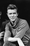 "David Bowie During News Conference for Broadway play ""The Elephant Man"", 1980 Photographic Print by Marty Lederhandler"
