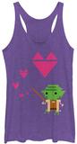 Juniors Tank Top: Star Wars- Yoda Love T-skjorter