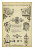 Antique Decorative Locks II Stampa giclée di J.F. Blondel
