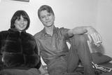 "David Bowie and Linda Ronstadt Backstage of Broadway Play ""The Elephant Man"", Booth Theater, 1980 Photographic Print by Richard Drew"