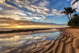Sunrise from Kauai Kailani in the Town of Kapaa on the Hawaiian Island of Kauai. Photographic Print by  peteleclerc