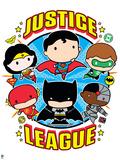 Justice League Chibi Design Plastic Sign
