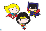 Justice League Chibi Design Poster