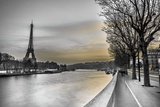 River Seine and The Eiffel Tower Art by Assaf Frank